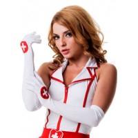 02849Onesize - Перчатки медсестры, белые