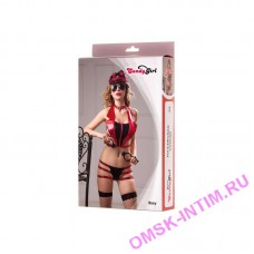 841055 - Костюм полицейской Candy Girl Roxy, красно-черный - OS