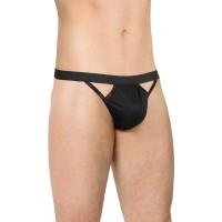 453010 - Стринги мужские с вырезами по бокам SoftLine Collection, чёрный, OS