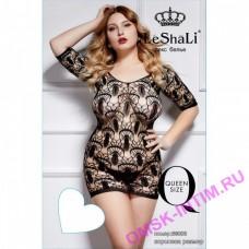 DJ66003B - Платье с узорным плетением и рукавом 3/4 Queen Size