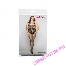 843027 - Костюм-сетка и стринги Candy Girl Kasandrah черные, 2XL