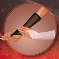 770520 - Перчатки с петелькой на один палец белые-S/L