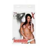 117022 - Кукла надувная Jennifer, шатенка, TOYFA Dolls-X, с двумя отверстиями, 160 см