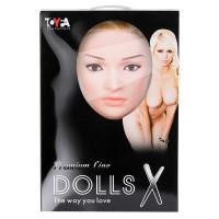 117015 - Кукла надувная с реалистичной головой. Блондинка в лежачей позе. Вставка вагина – анус. 2