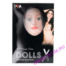 117016 - Кукла надувная Kaylee с реалистичной головой, брюнетка, TOYFA Dolls-X, кибер вставка вагина – анус, подвижные глаза, 160