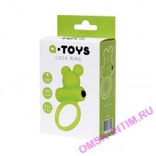 768018 - Виброкольцо на пенис A-Toys by TOYFA, силикон, зеленое