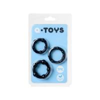 769004-5 - Набор колец TOYFA A-toys, TPE, Черные, 3,5/3/2 см