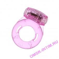 818034-(1-3) - Виброкольцо (прозр.розовое) 1 вибро