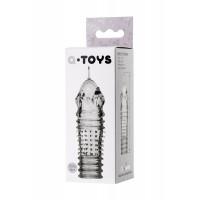 768010 - Насадка на пенис TOYFA A-Toys  , TPR, Прозрачный, 15,3 см