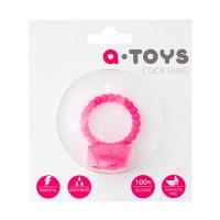 769005 - Виброкольцо силиконовое с клиторальным стимулятором A-toys розовое
