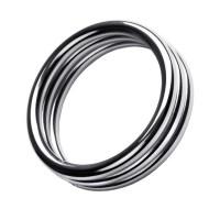717104-M - Кольцо на пенис,TOYFA Metal, серебристое