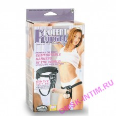111070 - Страпон с вибрацией Potent Plunger Harness with 8 Vibrator