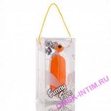 Виброяйцо 8см оранжевое