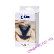 357006 - Расширяющая анальная втулка ToDo by Toyfa Bloom, силикон, синяя, 9 см, 6,5 см
