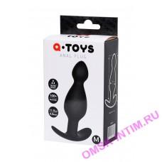 761317 - Анальная пробка A-Toys by TOYFA размера M, силикон, черная, 11,5 см, 3,5 см