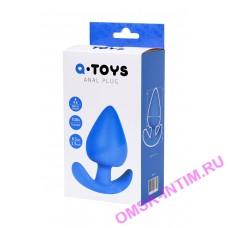 761318 - Анальная пробка A-Toys by TOYFA, силикон, синяя, 8,3 см, 4,1 см