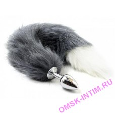 EH 275301209 - Анальная пробка Лисий хвост Grey Fox (metal)