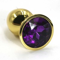 """Анальная пробка """"Small""""из аллюминия серебро dark purple"""