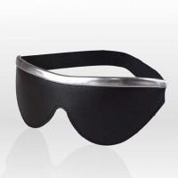 3183-16 - Маска на глаза закрытого типа с серебристой полоской СК-Визит, черная