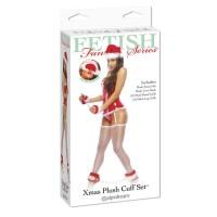 8103-00 - Набор Xmas Plush: наручники, наножники, маска, колпак