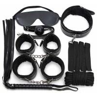 """EH 2010-826B - Набор аксессуаров БДСМ """"Paluba Black"""", 7 предметов черный"""