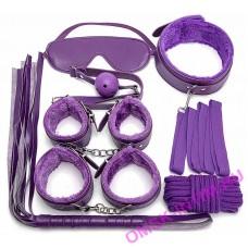 """EH 2010-826LV - Набор аксессуаров БДСМ """"Paluba Lavender"""", 7 предметов фиолетовый"""
