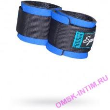 7055-5 - Наручники черные с синим