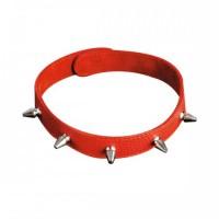 3102-(1,2,3) BX SIT - Кожаный узкий ошейник с шипами