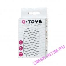 763008 - Мастурбатор TOYFA A-Toys Pocket Wavy, TPR, белый, 7,8 см (растягивается до 30 см)