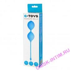764004 - Вагинальные шарики TOYFA A-Toys, Силикон, Голубой,  3,5 см