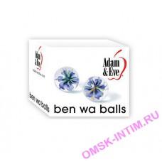 Стеклянные вагинальные шарики glass ben wa balls Adam & Eve