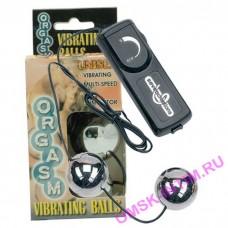 50250 - Виброшарики Orgasm Vibrating Balls, серебряные