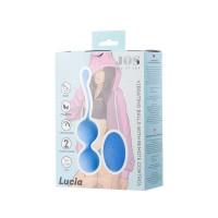 782010 - Виброшарики с дистанционным управлением JOS LUCIA, силикон, голубой, 3,5 см