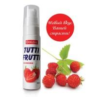 30002 - Съедобная гель-смазка TUTTI-FRUTTI для орального секса со вкусом земляники 30г