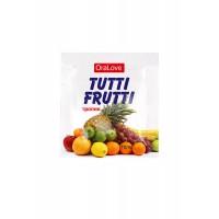 30006 - Съедобная гель-смазка TUTTI-FRUTTI для орального секса со вкусом экзотических фруктов ,4гр
