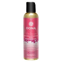 JO40517- Массажное масло DONA Scented Massage Oil Flirty Aroma Blushing Berry 125 мл