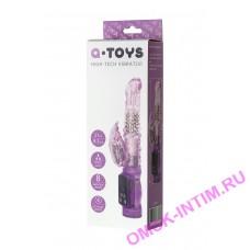 761034 - Вибратор с клиторальным стимулятором TOYFA A-Toys  High-Tech fantasy , TPE, Фиолетовый, 22 см