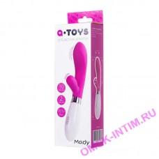 761042 - Вибратор с клиторальным стимулятором TOYFA A-Toys Mady  , Силикон, Розовый, 20,4 см