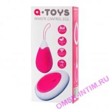 764003 - Мини вибратор ToyFa A-toys с пультом ДУ, силикон, розово-белый, 12 см.