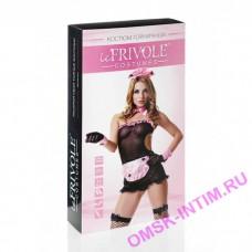 02900M/L - Эротический костюм горничной секси, черно-розовый - М