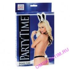 2744-10-3 - Игровой костюм Party Time Bunny: ушки зайчика и стринги с хвостиком, черно-белый