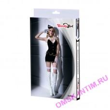 841038 - Костюм стюардессы Candy Girl Amber, черно-белый - OS