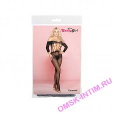843023 - Костюм-сетка и стринги Candy Girl Caramel черные - OS