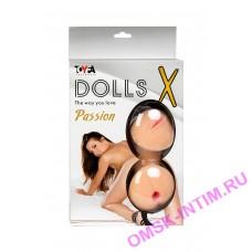 117013 - Кукла надувная Grace, шатенка, TOYFA Dolls-X Passion,с тремя отверситями, кибер вставка: вагина-анус, 160 см