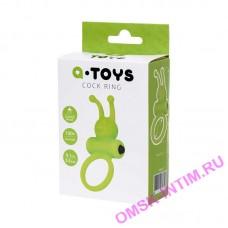 768017 - Эрекционное кольцо на пенис A-Toys by TOYFA, силикон, зеленое