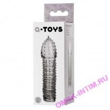 768009 - Насадка на пенис TOYFA A-Toys  , TPR, Прозрачный, 15,2 см