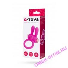769002 - Виброкольцо розовое A-toys с ушками