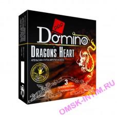 668 - Презервативы Luxe DOMINO PREMIUM Dracon's Heart, апельсина, кокоса и фруктов, 3 шт. в упаковке