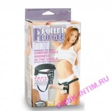 111070 - Страпон с вибрацией Potent Plunger Harness with 8 Vibrator