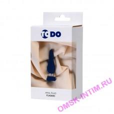 357009 - Анальная втулка ToDo by Toyfa Сlassic, размер S, силикон, синяя, 10 см, 3 см